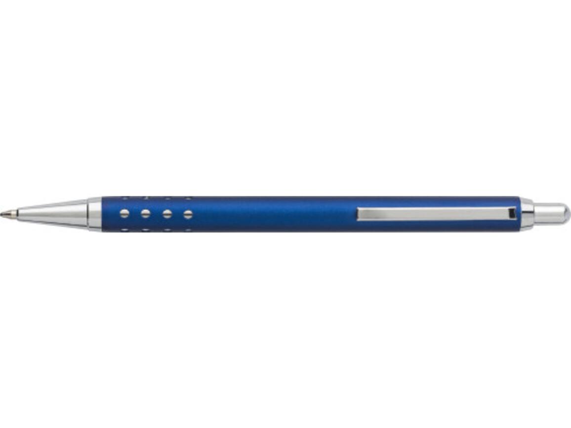 Kugelschreiber 'Seattle' aus Aluminium – Blau bedrucken, Art.-Nr. 005999999_5466