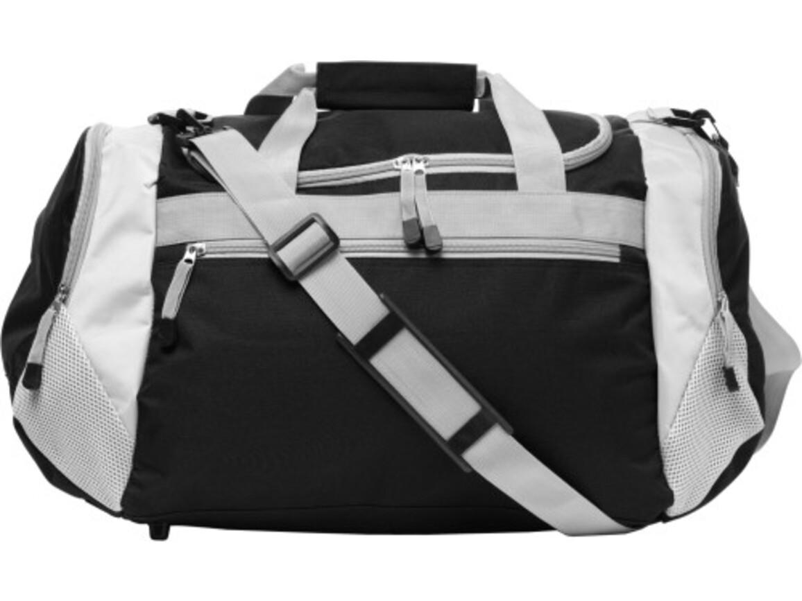 Sporttasche 'Como' aus Polyester – Schwarz bedrucken, Art.-Nr. 001999999_5675