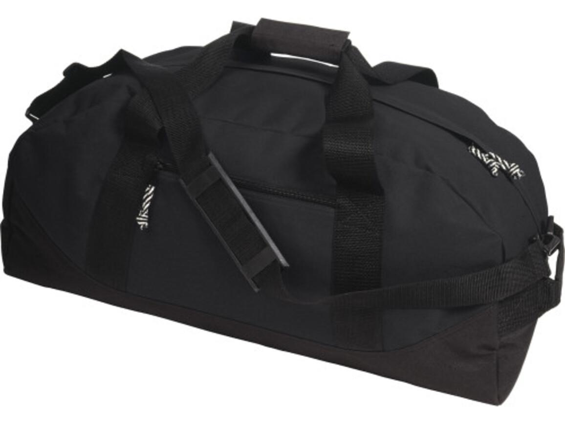 Sport-/Reisetasche 'Fitness' aus Polyester – Schwarz bedrucken, Art.-Nr. 001999999_5688
