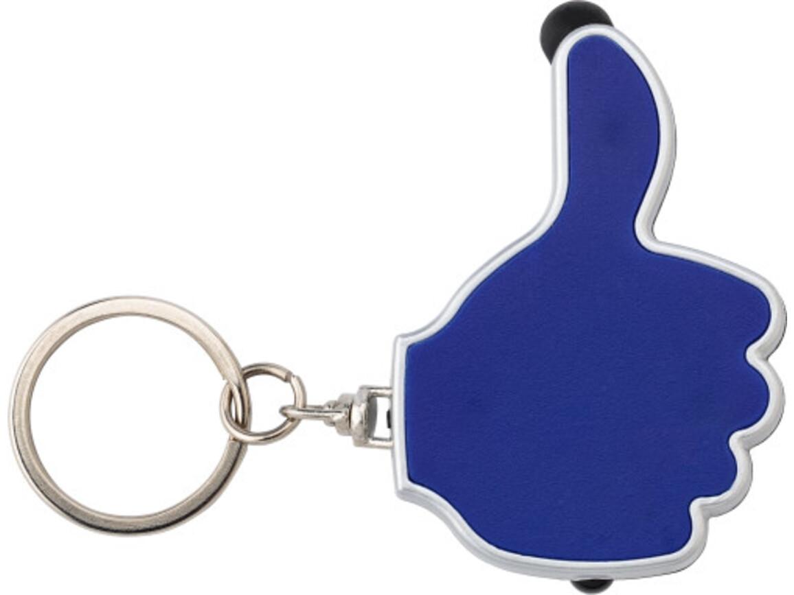 Schlüsselanhänger 'Like it' aus ABS-Kunststoff – Blau bedrucken, Art.-Nr. 005999999_5852