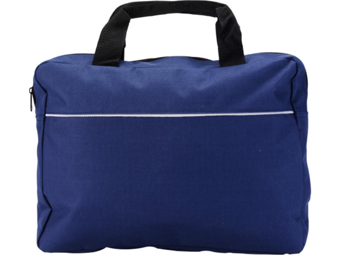 Dokumententasche 'Nassau' aus Polyester – Blau bedrucken, Art.-Nr. 005999999_6141