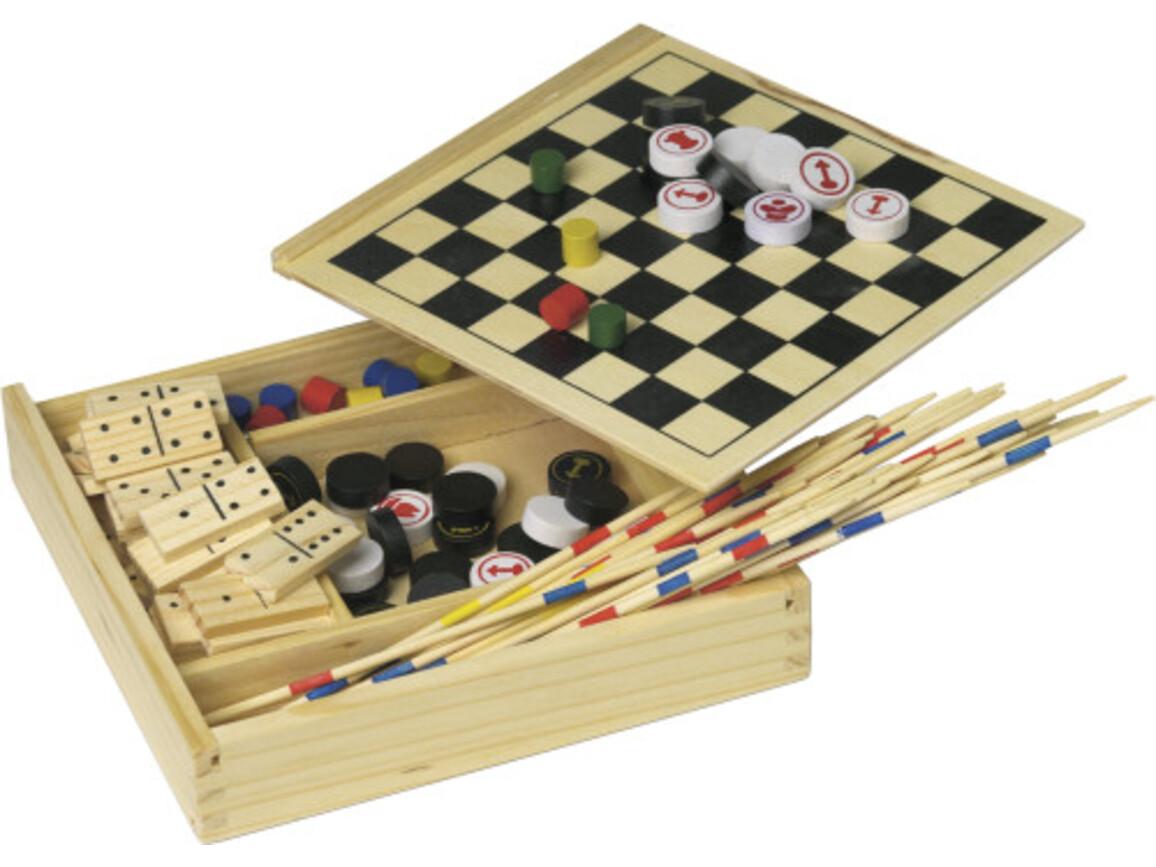 Spielset 'Fun' in Holzbox – Neutral bedrucken, Art.-Nr. 999999999_6163