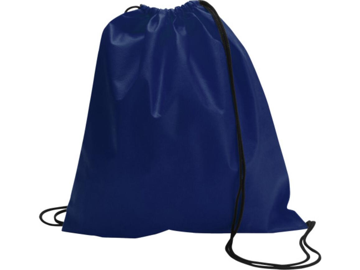 Schuh-/Rucksack (Turnbeutel) 'Modo' aus Non-Woven – Blau bedrucken, Art.-Nr. 005999999_6232