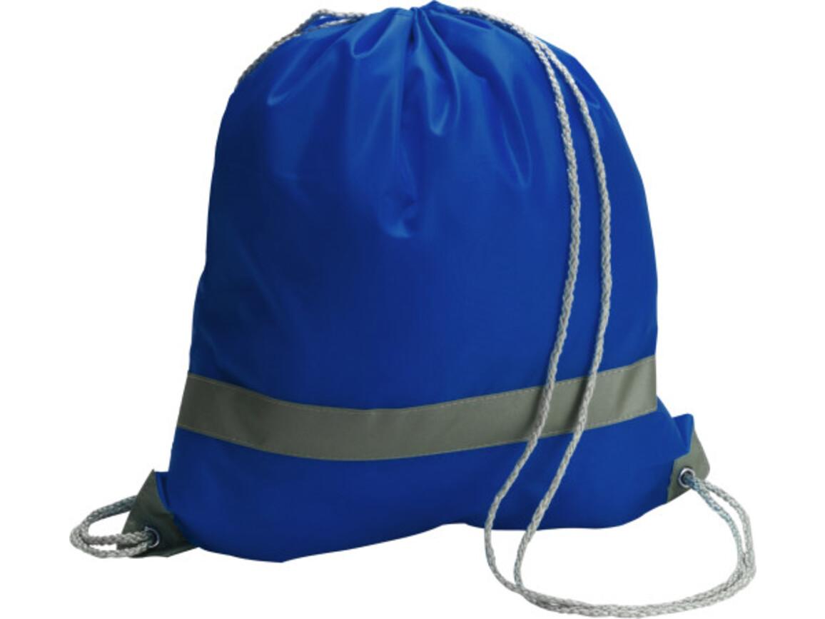 Schuh-/Rucksack 'Emergency' aus Polyester – Kobaltblau bedrucken, Art.-Nr. 023999999_6238