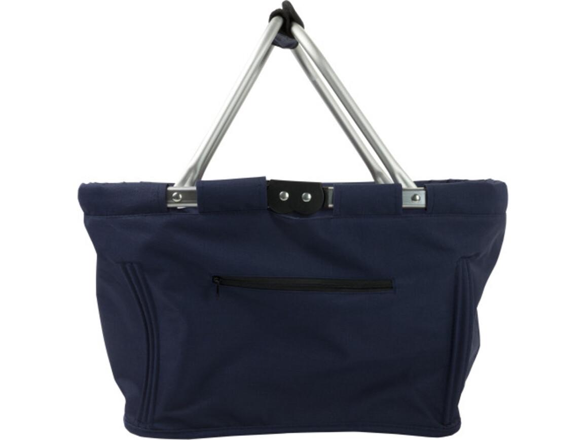 Einkaufskorb 'Maxi' aus Polyester – Blau bedrucken, Art.-Nr. 005999999_6304