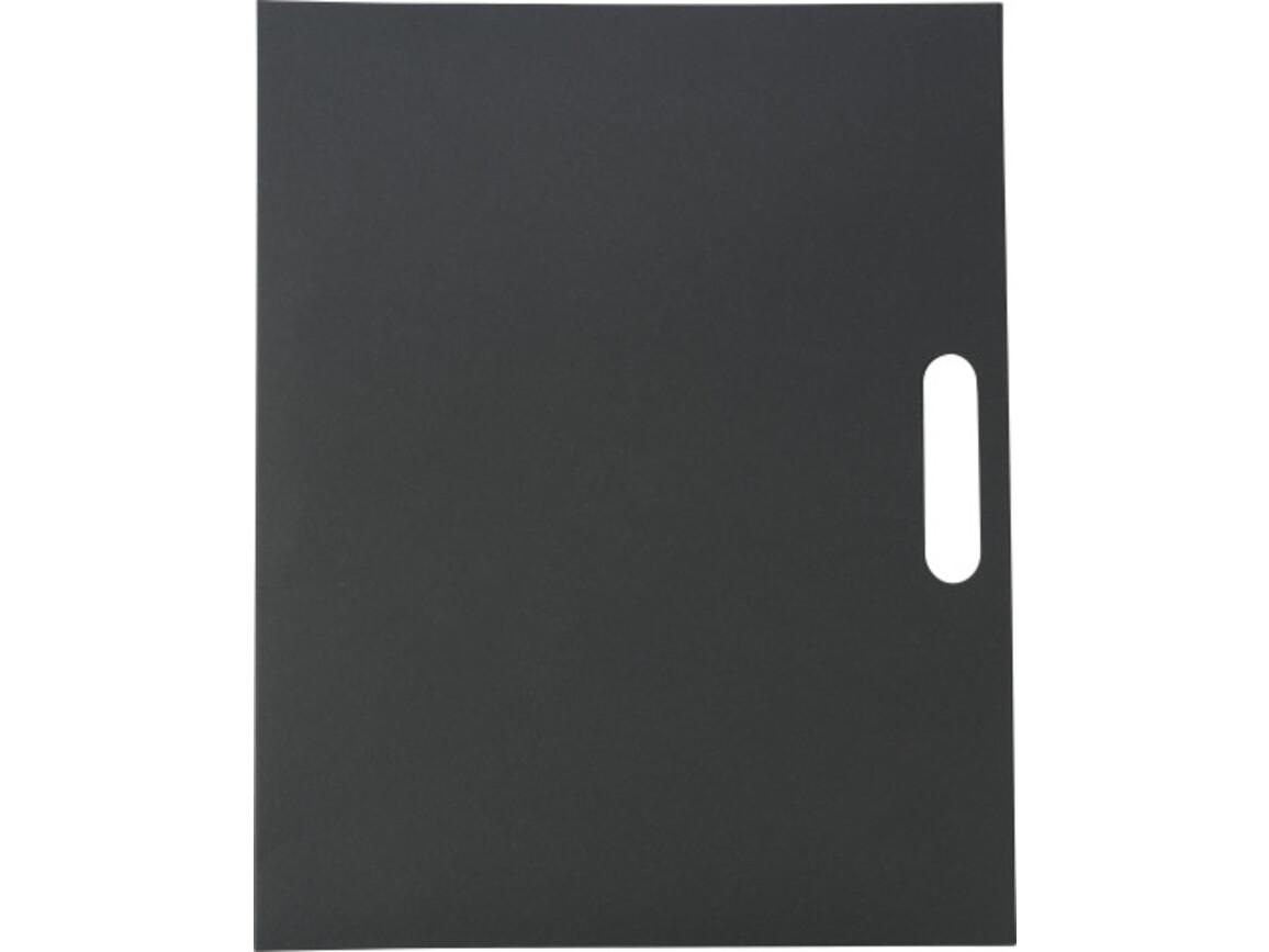 Konferenzmappe 'Adelaide' aus Karton – Schwarz bedrucken, Art.-Nr. 001999999_6417