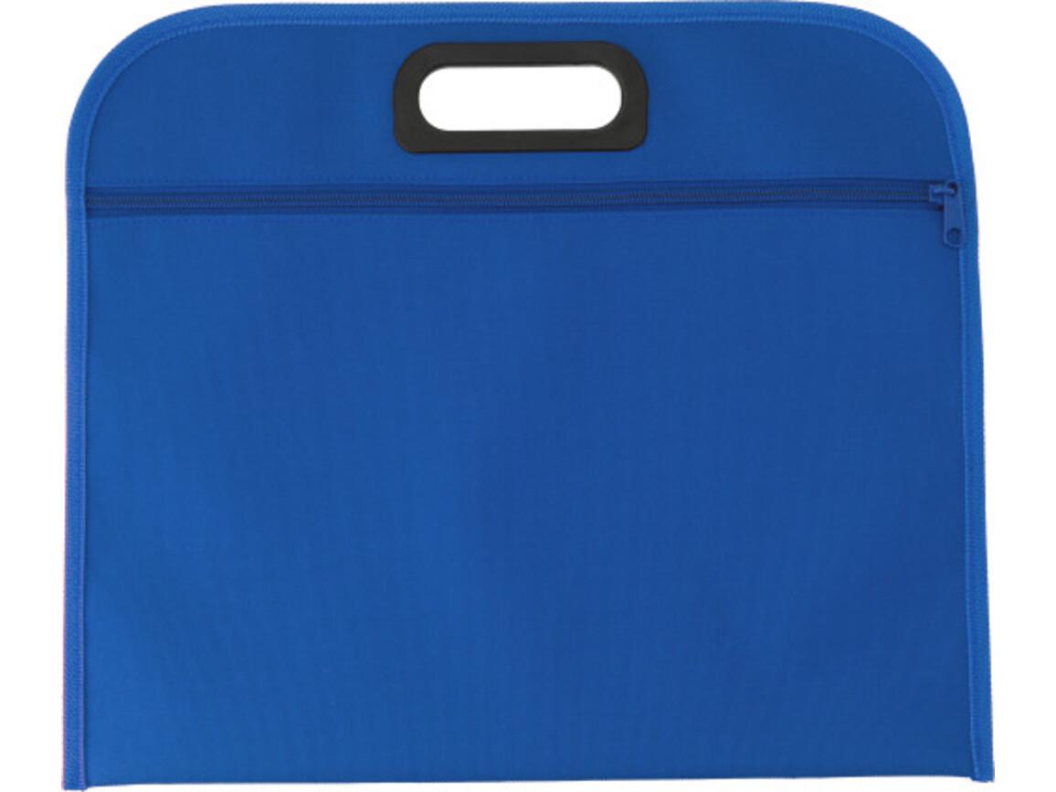 Dokumententasche 'Jamaika' aus Polyester – Blau bedrucken, Art.-Nr. 005999999_6451
