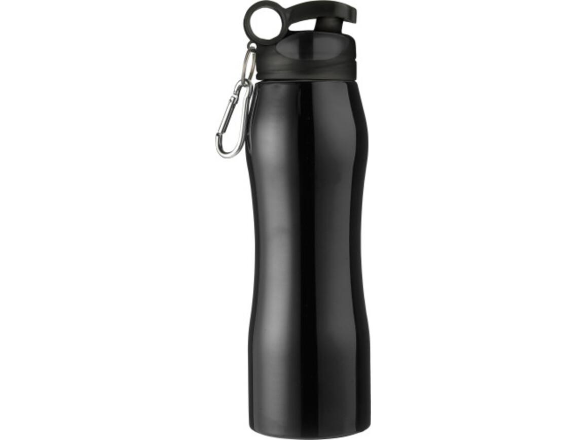 Trinkflasche 'Melbourne' aus Edelstahl – Schwarz bedrucken, Art.-Nr. 001999999_6536