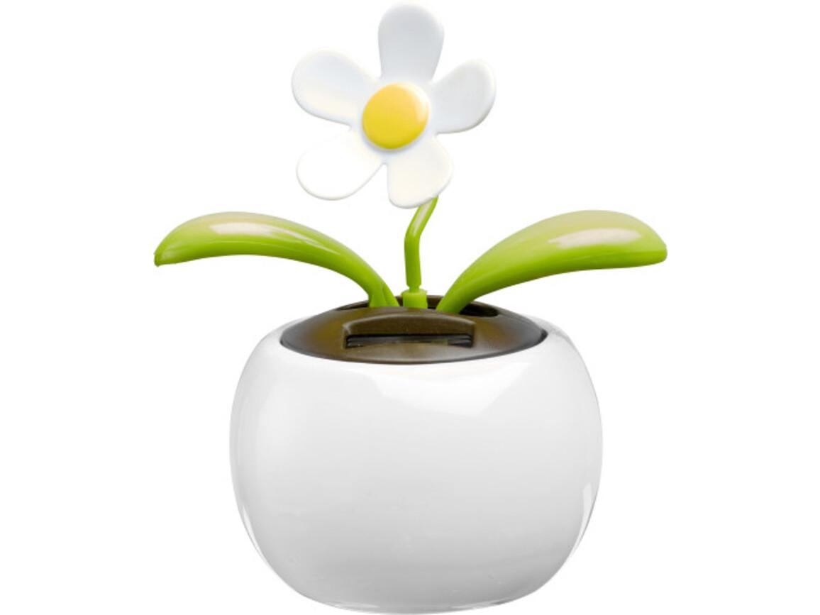 Solar-Blume 'Sunshine' aus Kunststoff – Weiß bedrucken, Art.-Nr. 002999999_6730