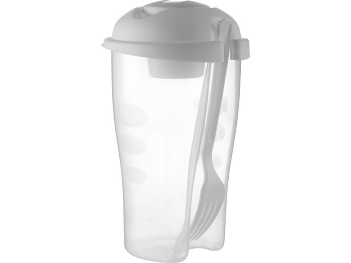 Vorratsdosen-Set 'Lunch' aus Kunststoff – Weiß bedrucken, Art.-Nr. 002999999_6731