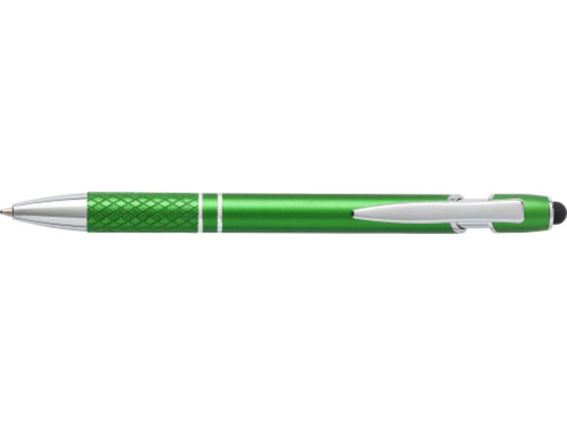 Kugelschreiber 'Arezzo' aus Aluminium – Grün bedrucken, Art.-Nr. 004999999_6933