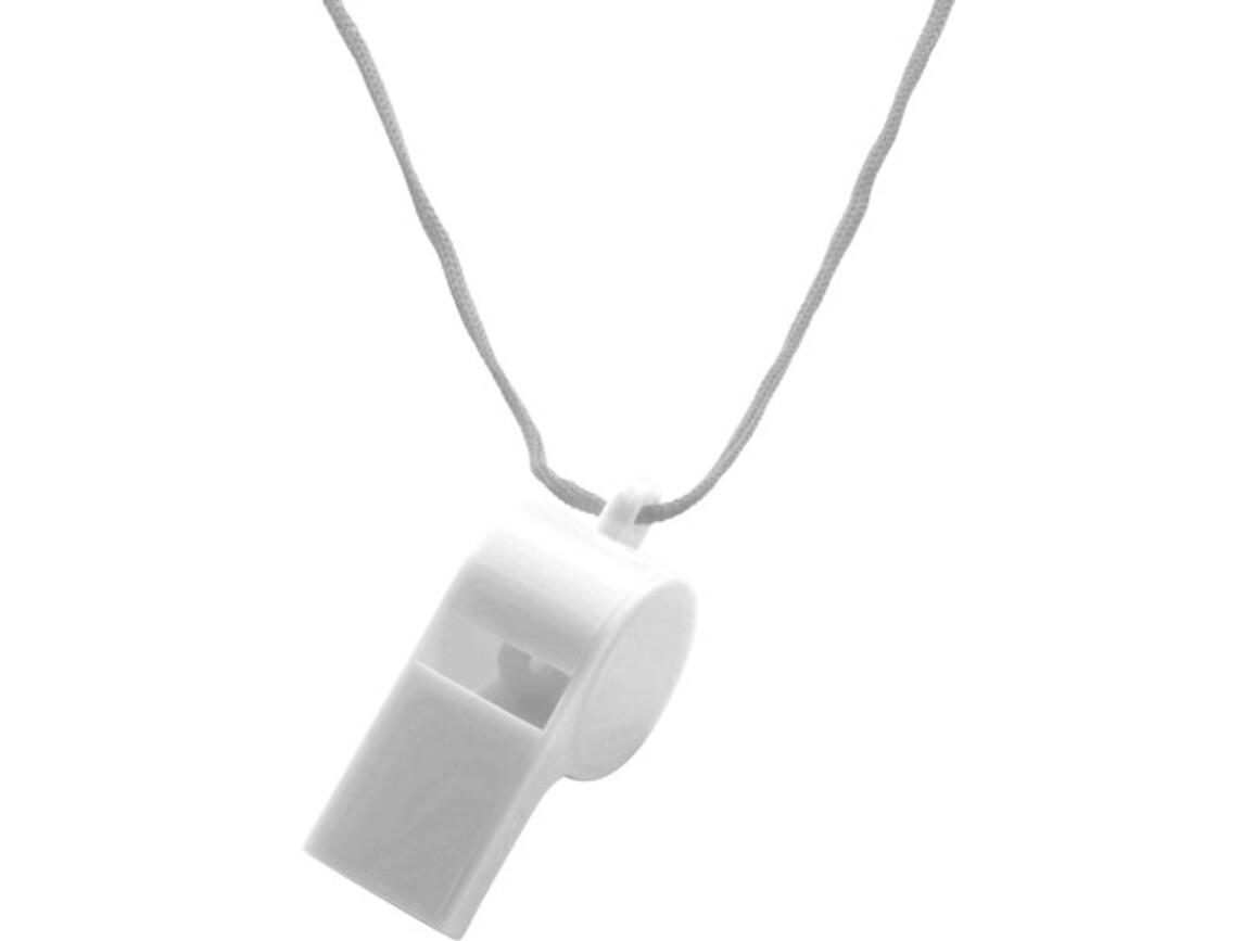 Trillerpfeife 'Attention' aus Kunststoff – Weiß bedrucken, Art.-Nr. 002999999_7060