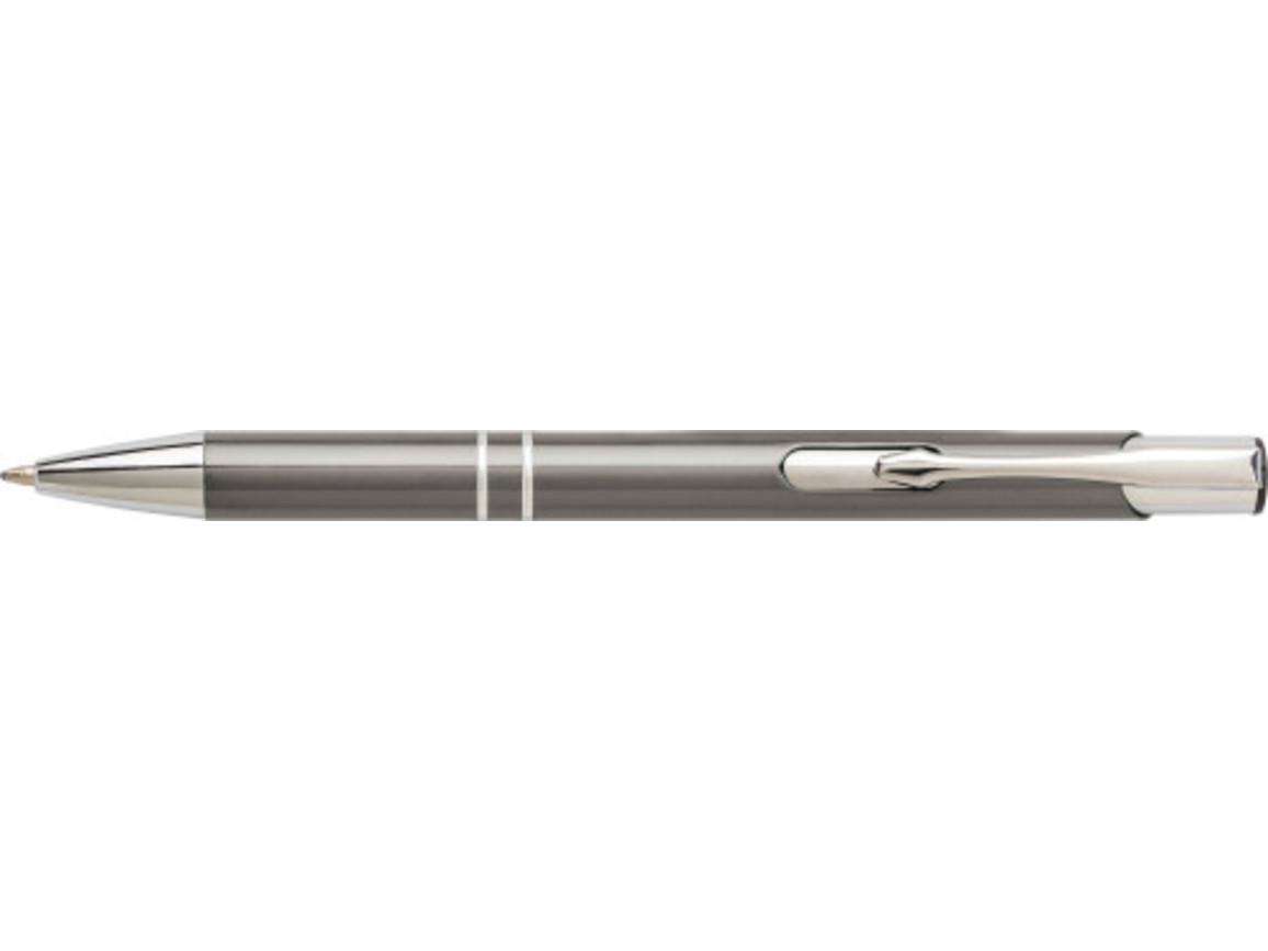 Kugelschreiber 'Iberia' aus Aluminium – Grau bedrucken, Art.-Nr. 003999999_7061