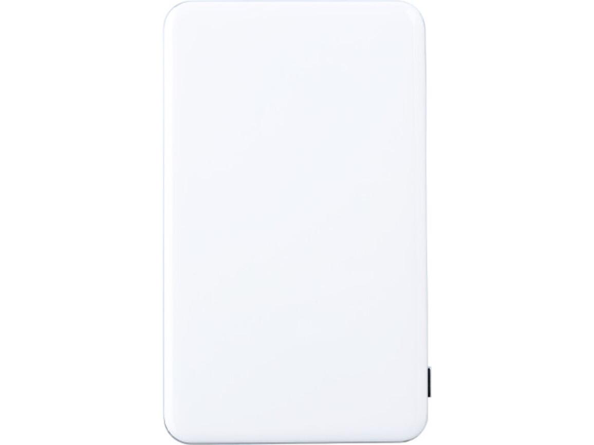 Powerbank 'Flatline' aus ABS-Kunststoff – Weiß bedrucken, Art.-Nr. 002999999_7083