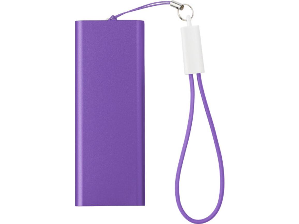 Powerbank 'Colorline' aus Aluminium – Violett bedrucken, Art.-Nr. 024999999_7093
