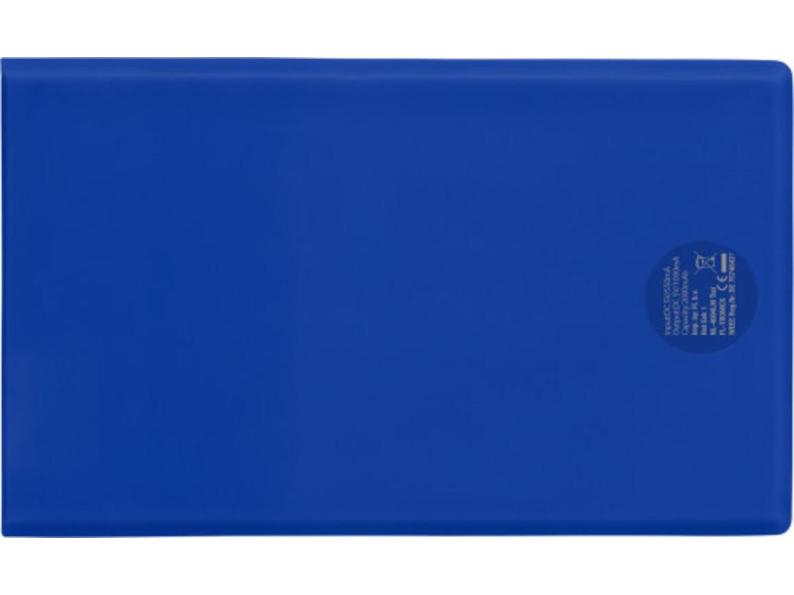 Powerbank 'Pocketline' aus ABS-Kunststoff – Kobaltblau bedrucken, Art.-Nr. 023999999_7094