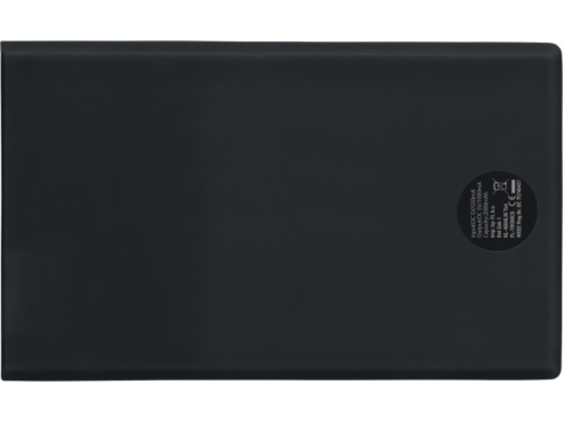 Powerbank 'Pocketline' aus ABS-Kunststoff – Schwarz bedrucken, Art.-Nr. 001999999_7094