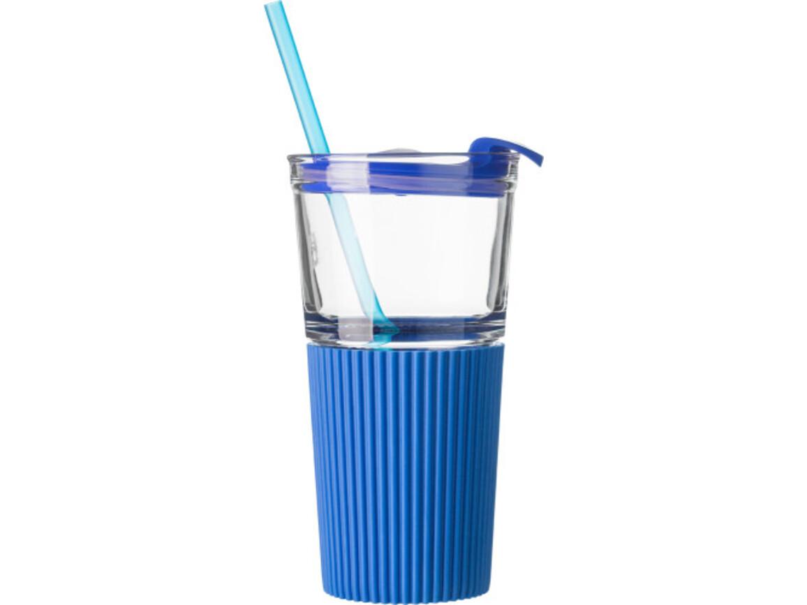 Trinkbecher 'Ultra' aus Glas – Kobaltblau bedrucken, Art.-Nr. 023999999_7486