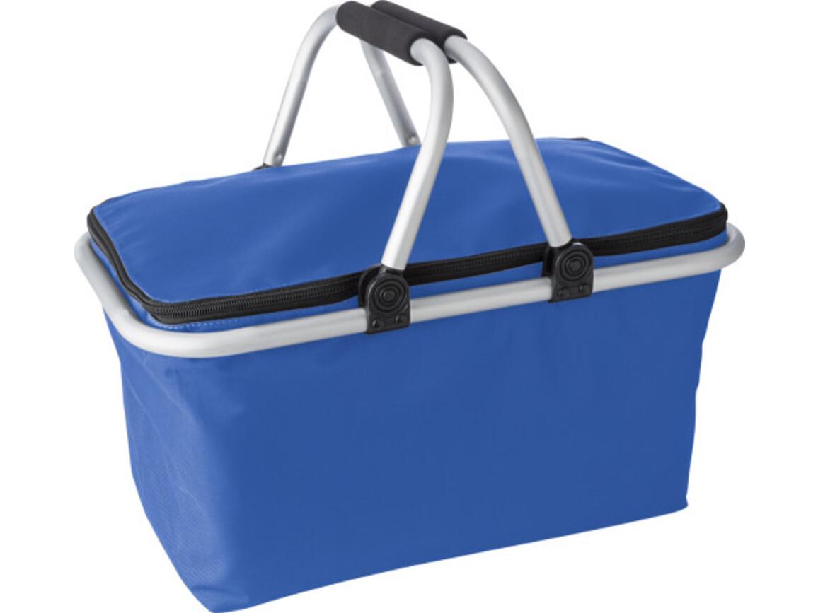 Einkaufskorb 'Metro' aus Polyester – Kobaltblau bedrucken, Art.-Nr. 023999999_7510