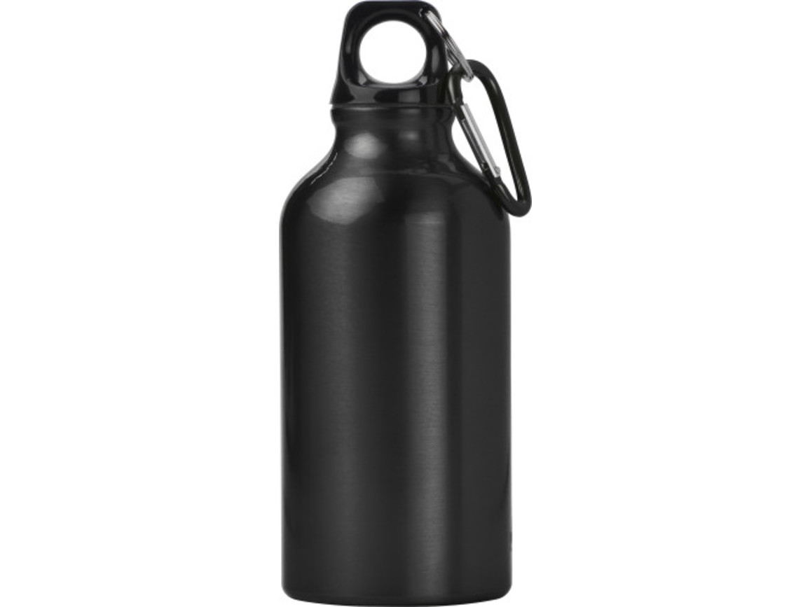 Trinkflasche 'Lissabon' aus Aluminium – Schwarz bedrucken, Art.-Nr. 001999999_7552