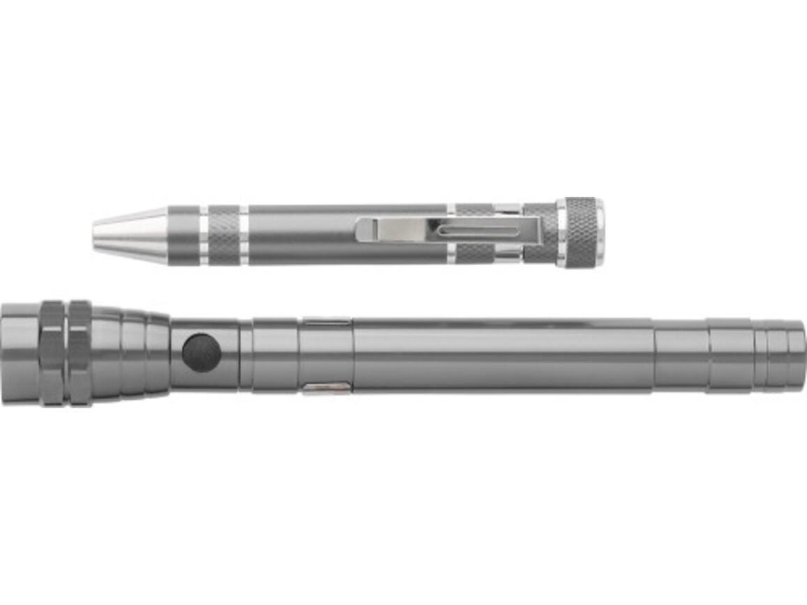 Werkzeug-Set 'Maxi' aus Metall – Grau bedrucken, Art.-Nr. 003999999_7603
