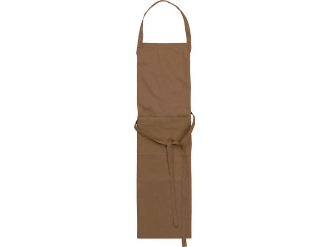 Küchenschürze 'Cuisine' aus Polyester/Baumwolle – Braun bedrucken, Art.-Nr. 011999999_7635