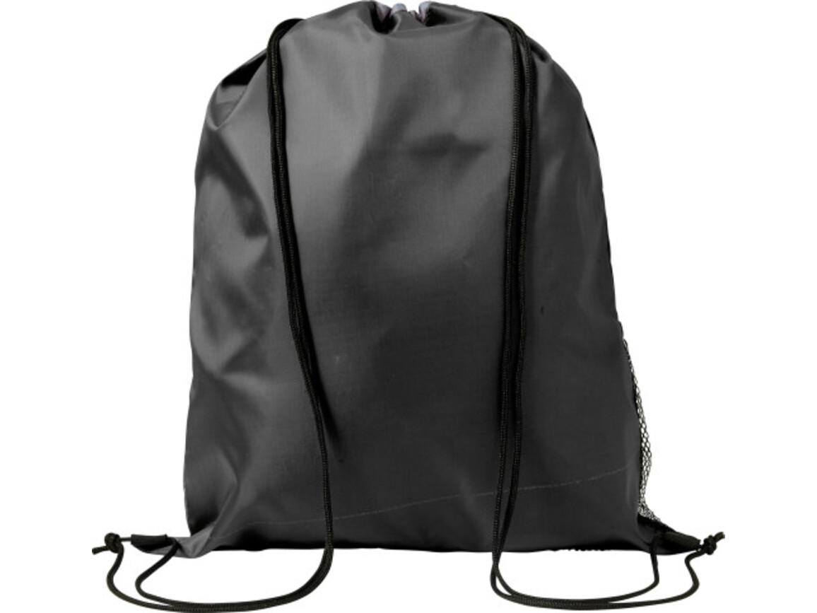 Schuh-/Rucksack (Turnbeutel) 'Mondo' aus Polyester – Schwarz bedrucken, Art.-Nr. 001999999_7637
