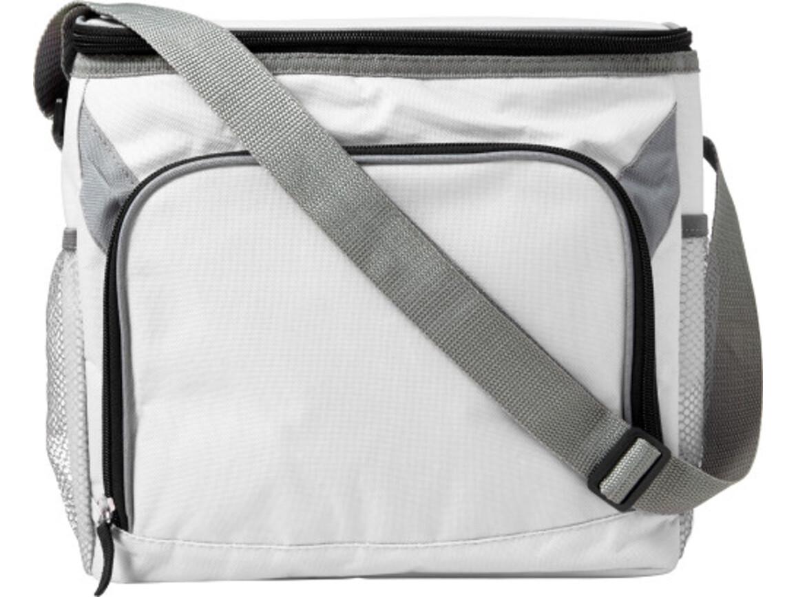 Kühltasche 'Adventure' aus Polyester – Weiß bedrucken, Art.-Nr. 002999999_7655