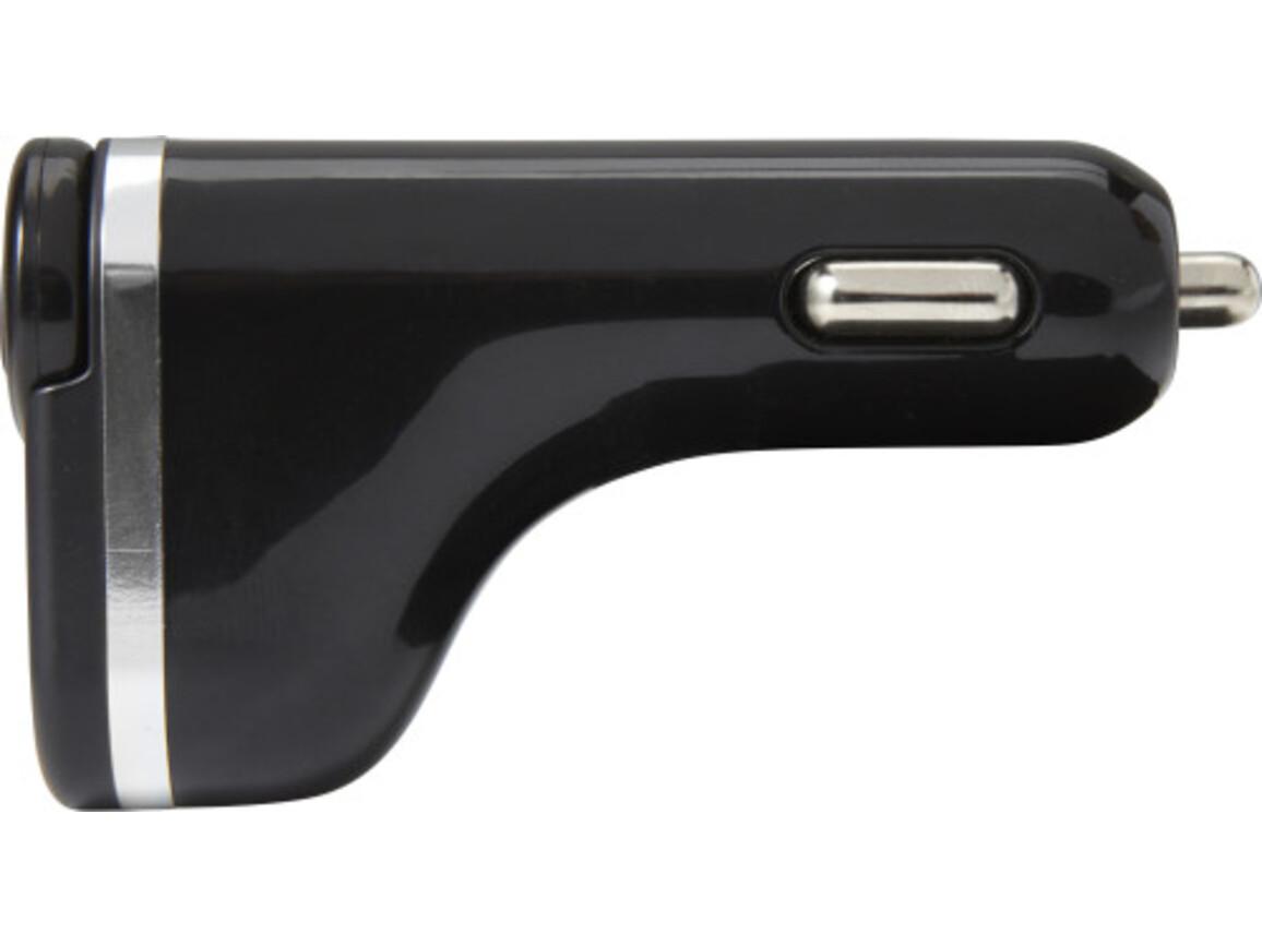 USB-KFZ-Ladestecker'Gun' aus Kunststoff – Schwarz bedrucken, Art.-Nr. 001999999_7692