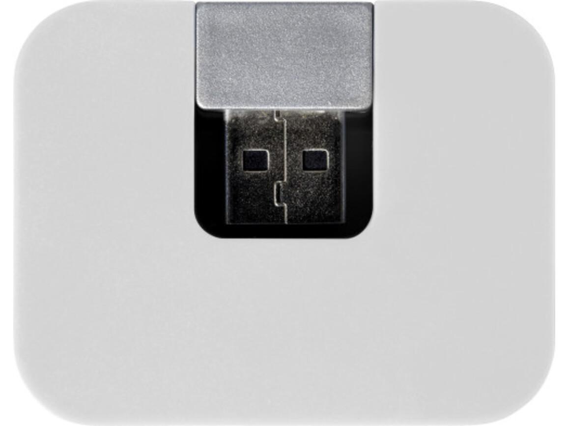 USB-Hub 'Box' aus ABS-Kunststoff – Weiß bedrucken, Art.-Nr. 002999999_7735