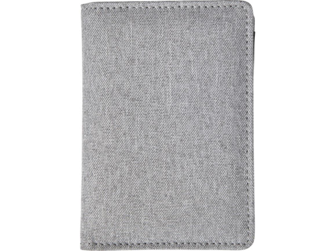 Kreditkartenetui 'Dax' aus Polyester – Grau bedrucken, Art.-Nr. 003999999_7757