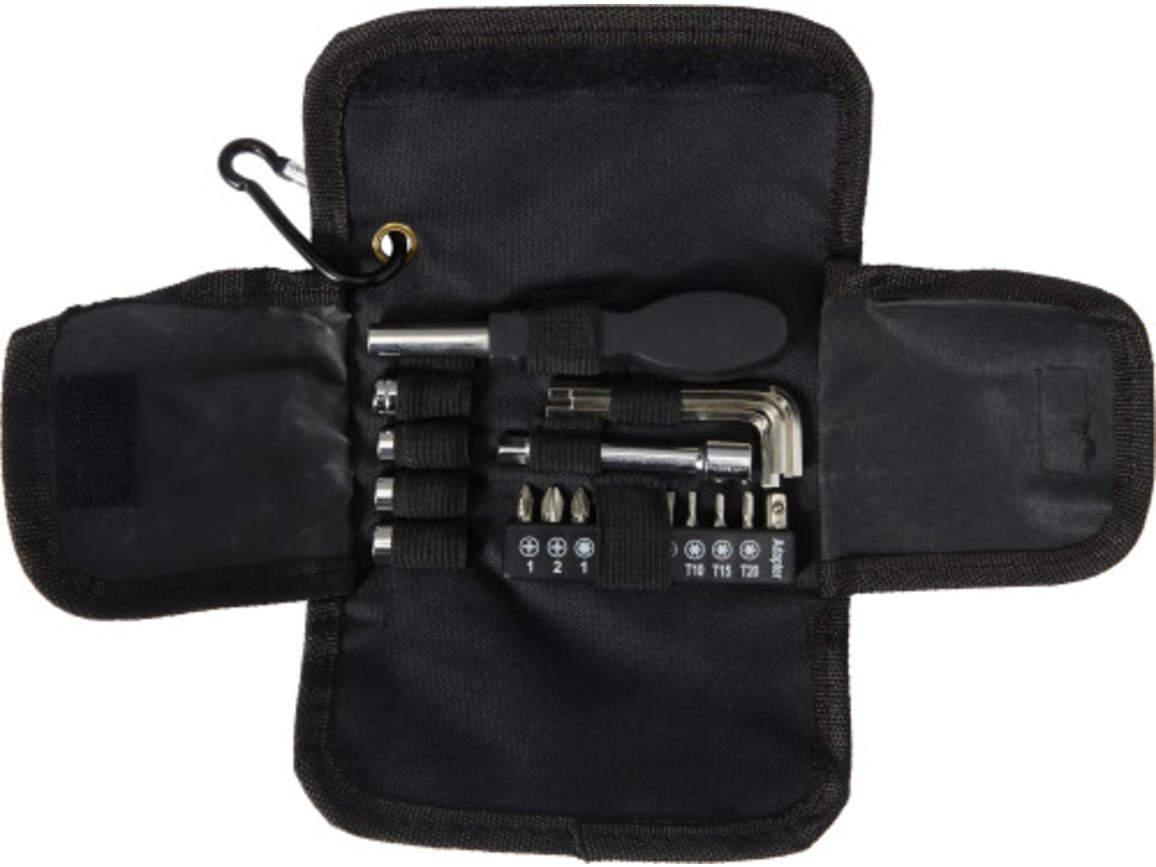 Werkzeug-Set 'Tool', 20-tlg. – Schwarz bedrucken, Art.-Nr. 001999999_7762