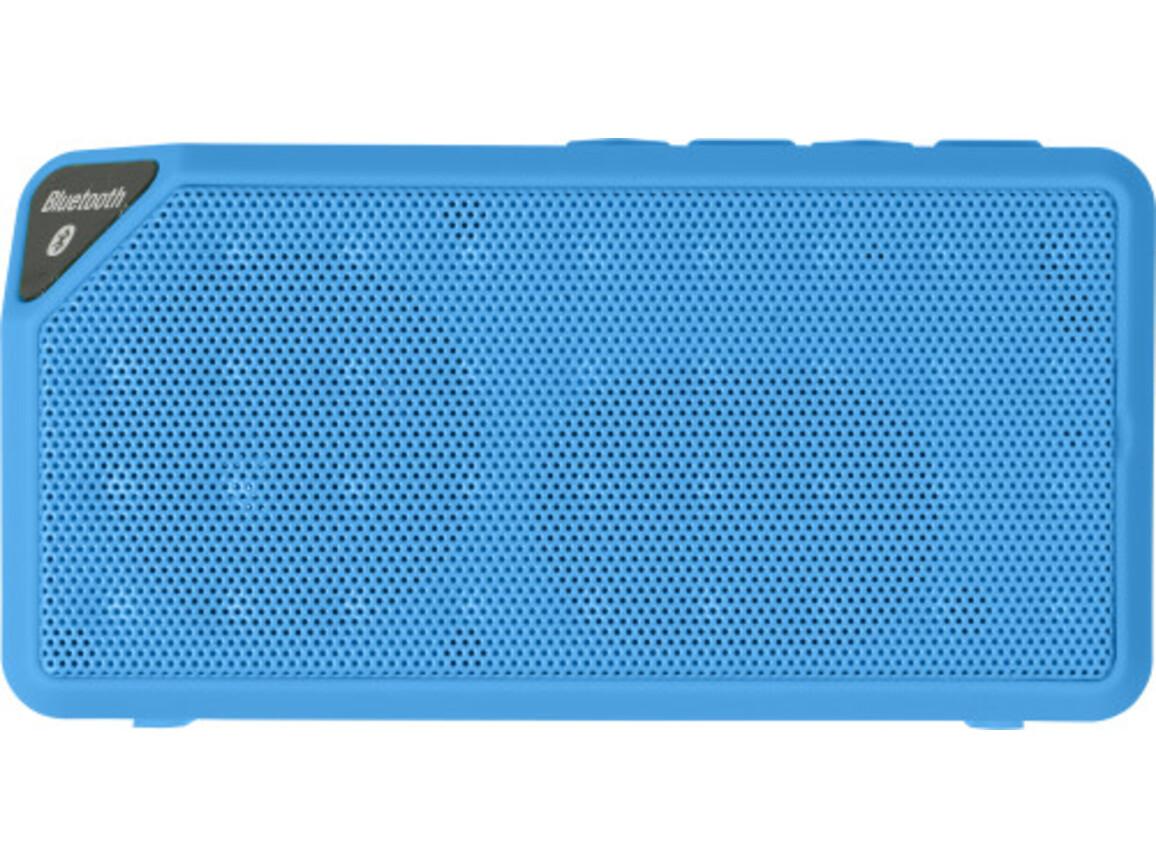 BT/Wireless-Lautsprecher 'Cube' aus Kunststoff – Kobaltblau bedrucken, Art.-Nr. 023999999_7796