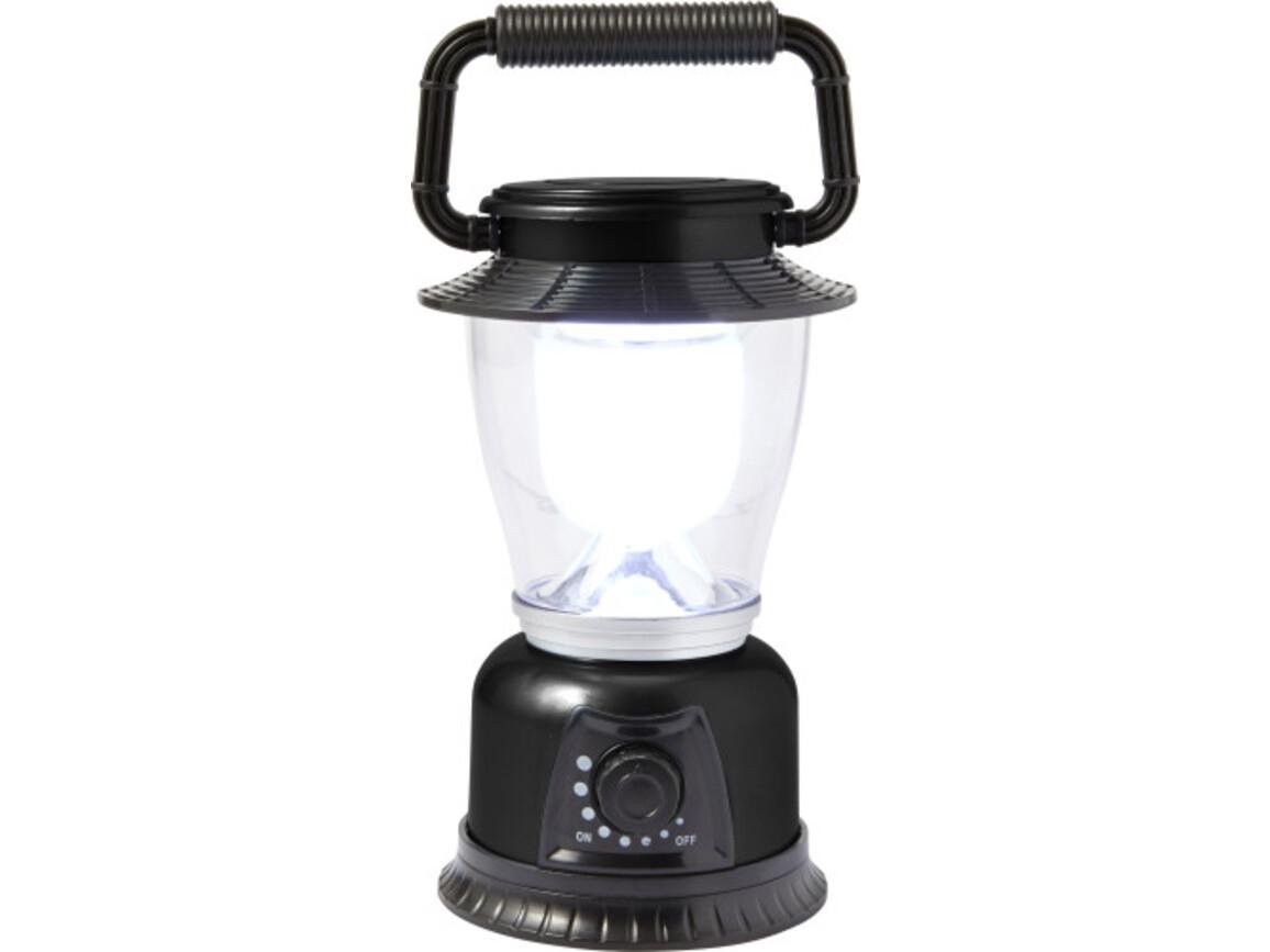 LED Campingleuchte 'Fun' aus Kunststoff – Schwarz bedrucken, Art.-Nr. 001999999_7802