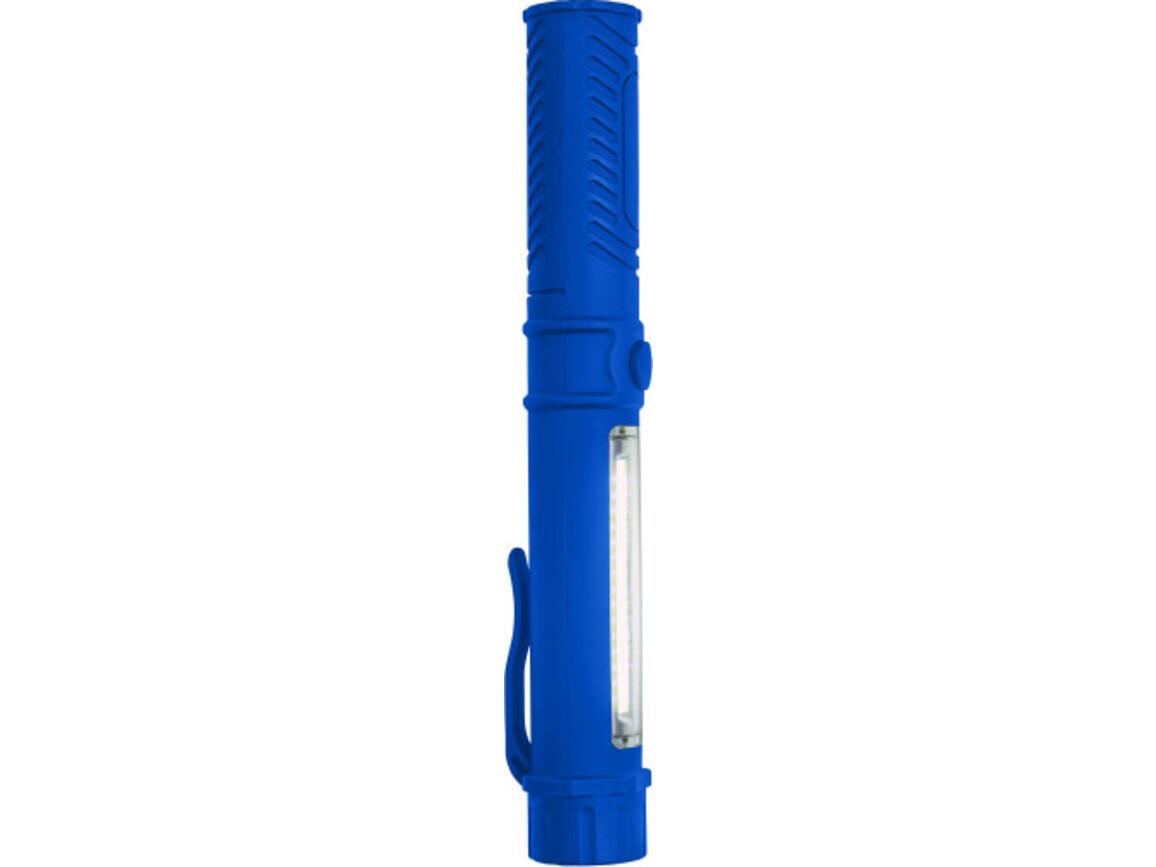 Arbeitslampe 'View' aus Kunststoff – Kobaltblau bedrucken, Art.-Nr. 023999999_7813