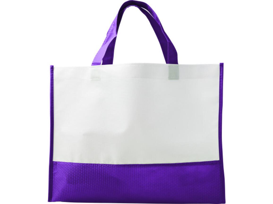 Einkaufstasche 'Handle' aus Non-woven – Violett bedrucken, Art.-Nr. 024999999_7827