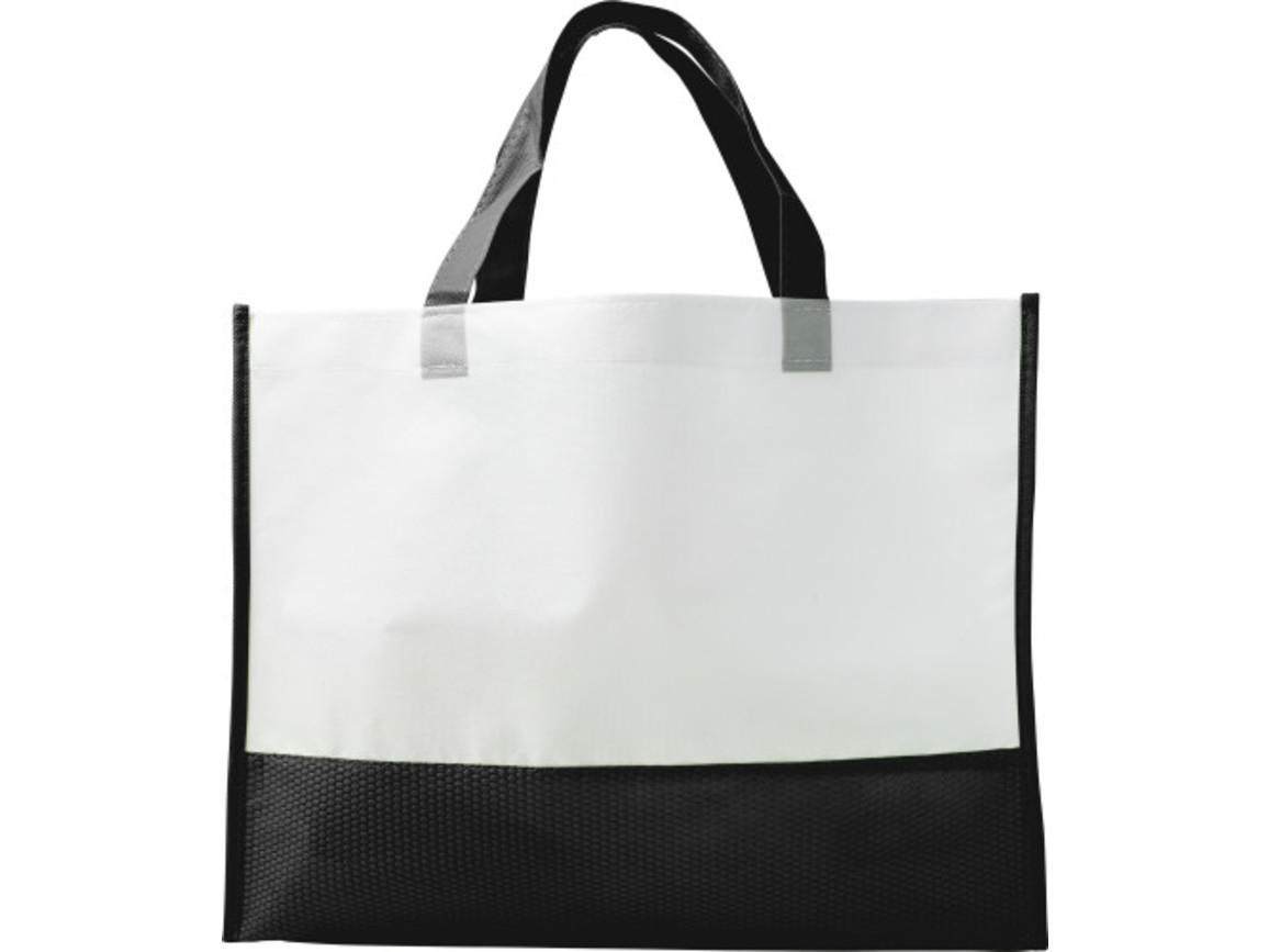 Einkaufstasche 'Handle' aus Non-woven – Schwarz bedrucken, Art.-Nr. 001999999_7827