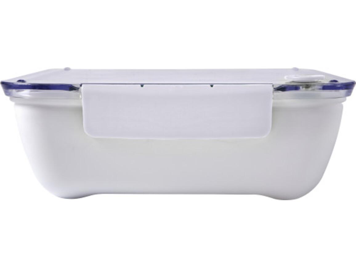 Lunchbox 'Bernd' aus Kunststoff – Weiß bedrucken, Art.-Nr. 002999999_7844