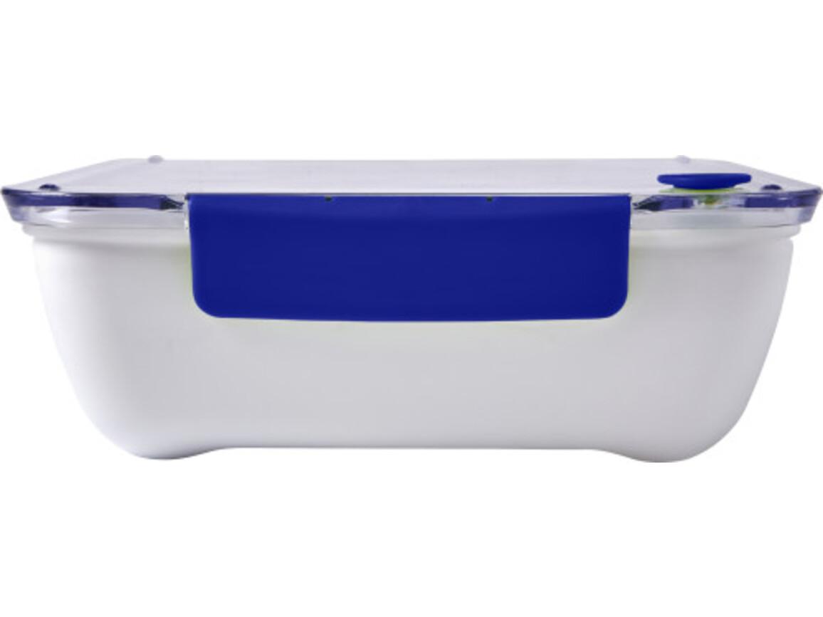 Lunchbox 'Bernd' aus Kunststoff – Blau bedrucken, Art.-Nr. 005999999_7844