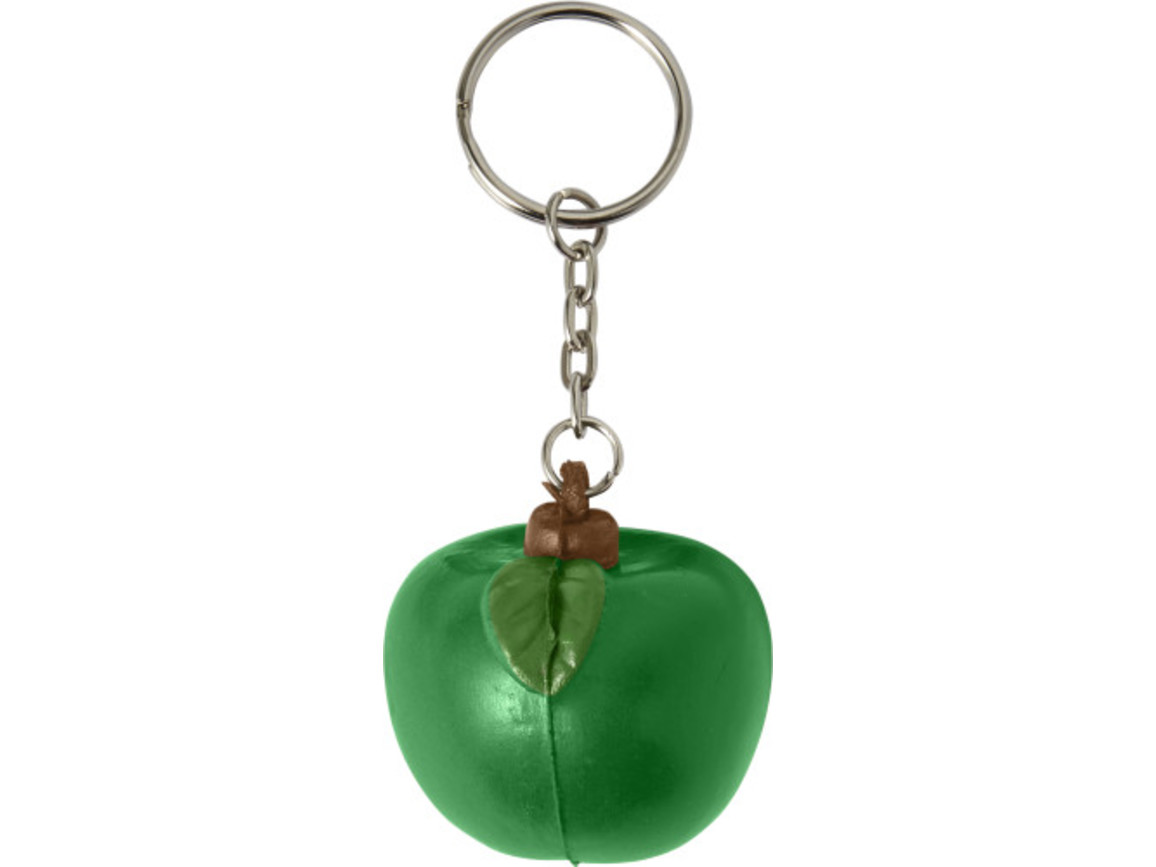 Schlüsselanhänger 'Fruit' aus PU Schaum – Grün bedrucken, Art.-Nr. 004999999_7864