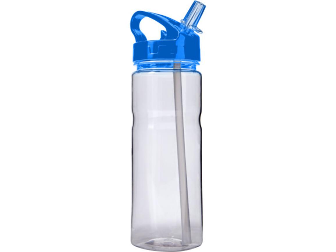 Trinkflasche 'Transfer' aus Kunststoff – Kobaltblau bedrucken, Art.-Nr. 023999999_7875