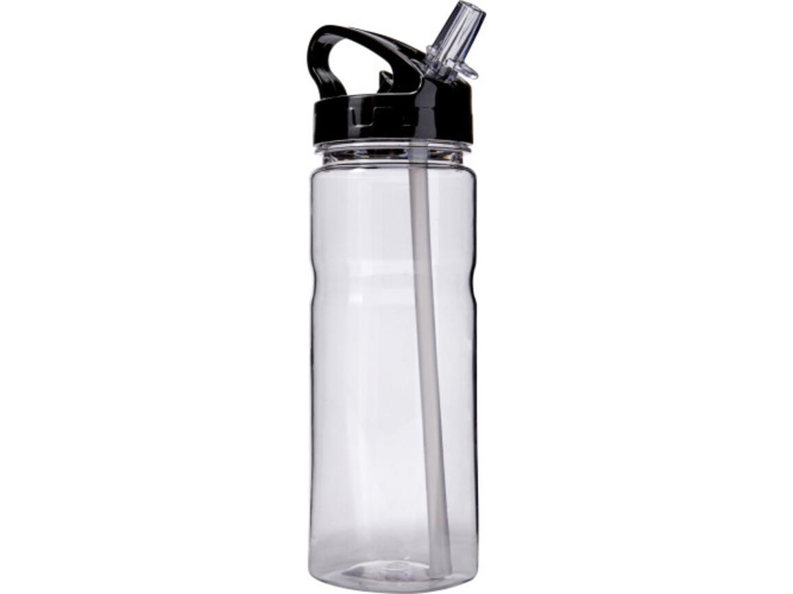 Trinkflasche 'Transfer' aus Kunststoff – Schwarz bedrucken, Art.-Nr. 001999999_7875