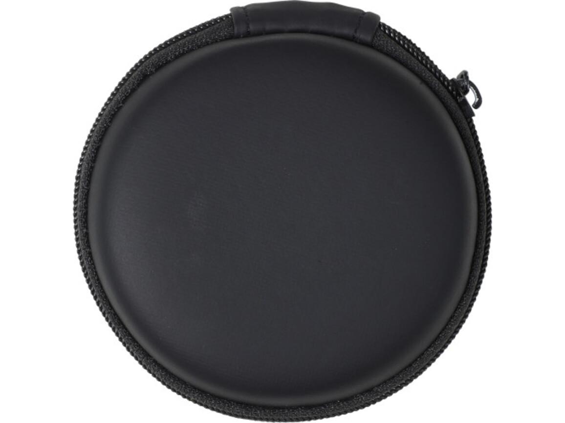 BT/Wireless Kopfhörer 'Tapir' aus Kunststoff – Schwarz bedrucken, Art.-Nr. 001999999_7890