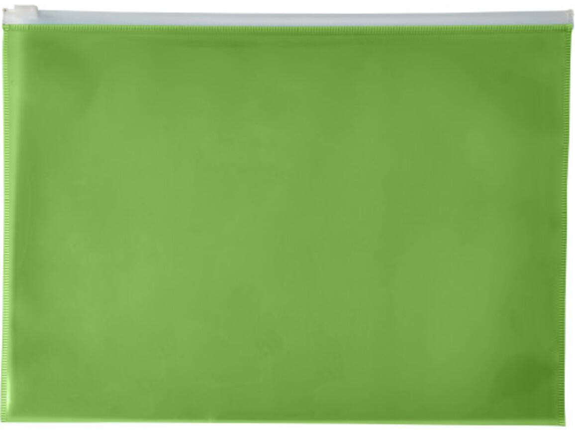 Dokumententasche 'Flexi' aus PVC – Grün bedrucken, Art.-Nr. 004999999_7901