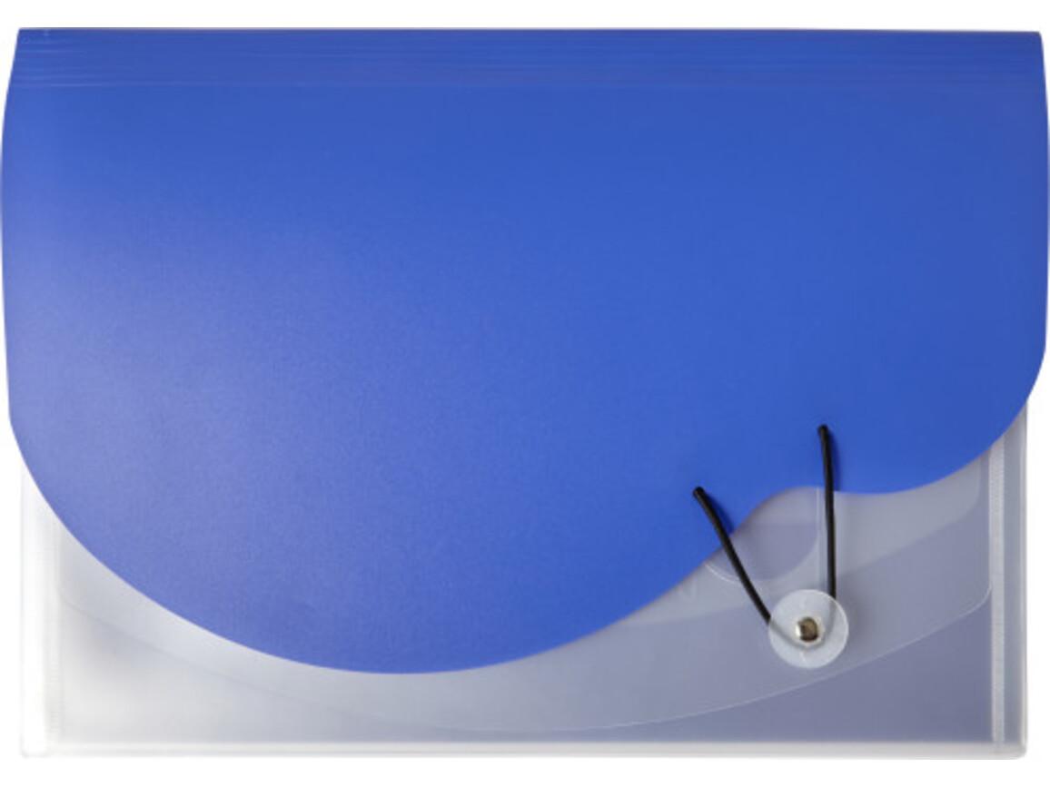 Dokumententasche 'Wave' aus Kunststoff – Kobaltblau bedrucken, Art.-Nr. 023999999_7903