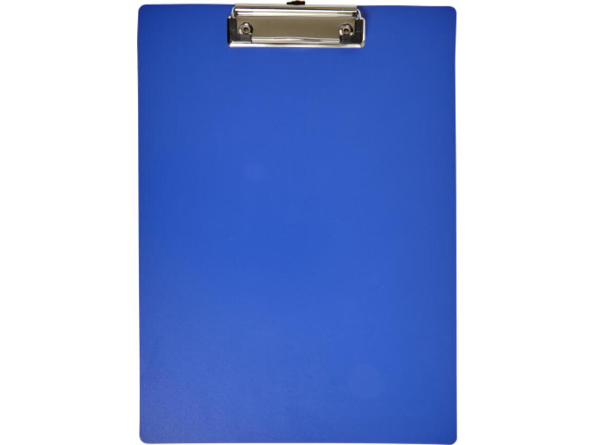 Klemmbrett 'Fix' aus Kunststoff – Kobaltblau bedrucken, Art.-Nr. 023999999_7906