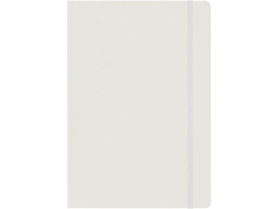 Notizbuch 'Biarritz' aus Karton (ca. DIN A5 Format) – Weiß bedrucken, Art.-Nr. 002999999_7913