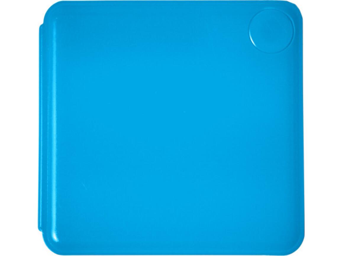 Haftnotiz-Box 'Swing' aus Kunststoff – Kobaltblau bedrucken, Art.-Nr. 023999999_7930