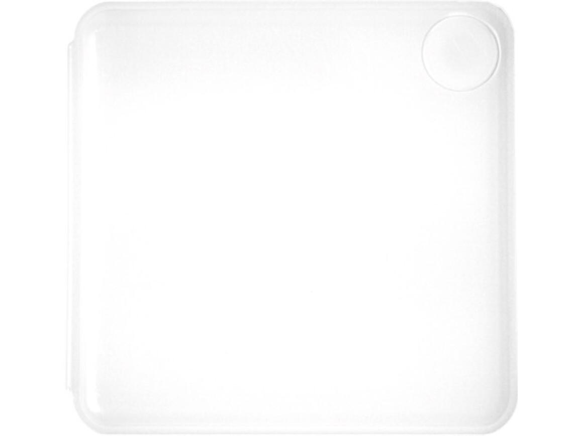 Haftnotiz-Box 'Swing' aus Kunststoff – Weiß bedrucken, Art.-Nr. 002999999_7930