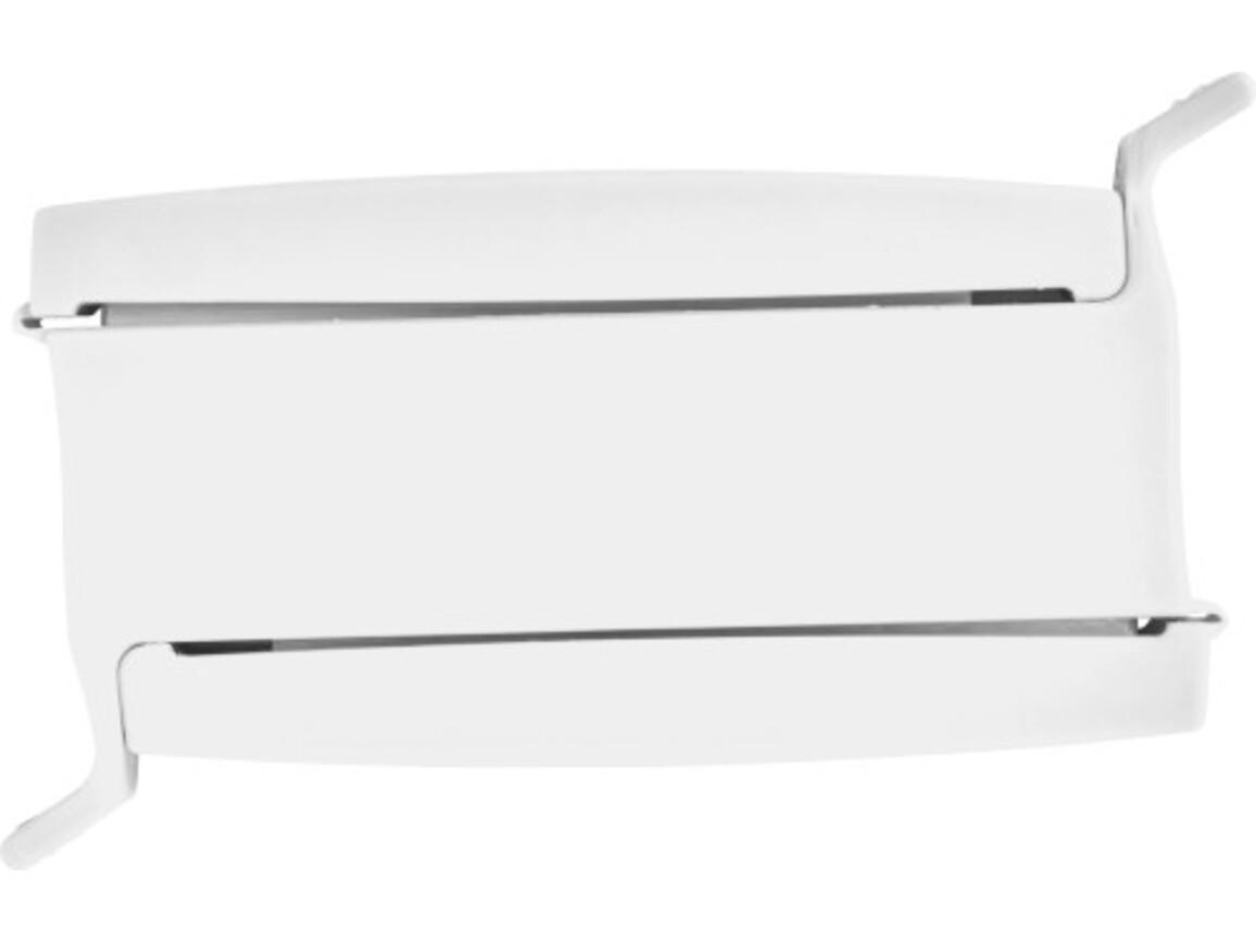 Verschluss-Clip 'Double' aus Kunststoff – Weiß bedrucken, Art.-Nr. 002999999_7933